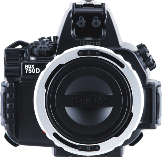 Sea&Sea housing for Canon EOS 750D-800D MDX-750D Mark II front