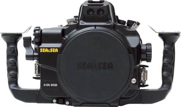 Sea&Sea housing for Canon EOS 80D MDX-80D front
