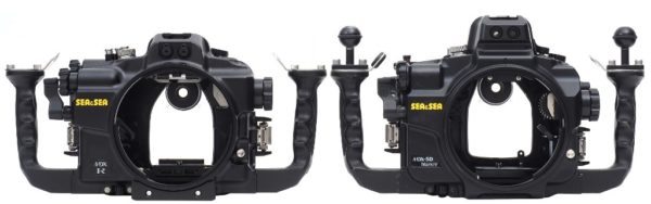 Sea&Sea housing for Canon EOS R MDX-R Front versus standaard MDX housing